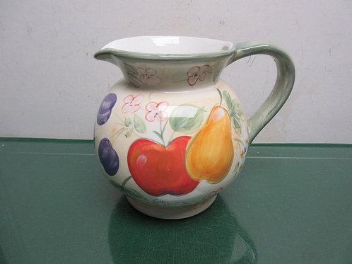 """Home"" fruit design large round pitcher"