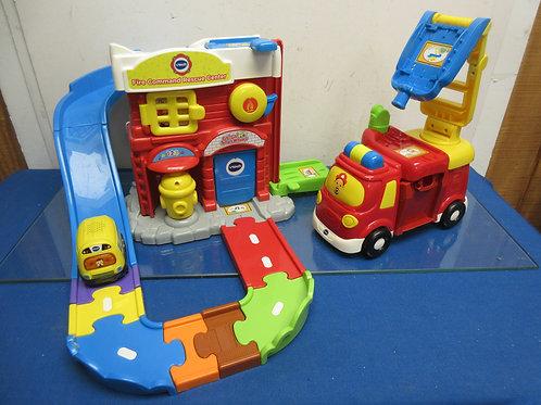 Vtech go go smart wheels fire command center with fire truck & car