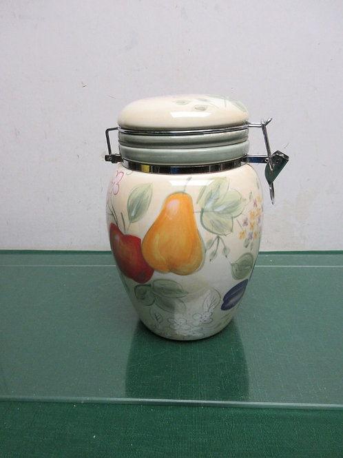 """Home"" fruit design large sealing locking canister"