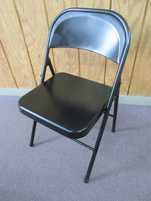 All metal black folding chair