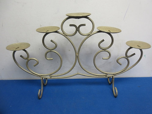Gold candle stand - holds 5 pillar candles