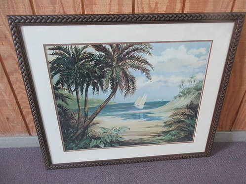 """Large picture of sailboat and palms, 30x36"""""""