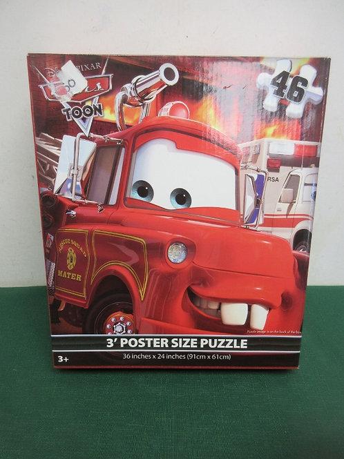 Disney Pixar Cars toon 3ft poster size puzzle