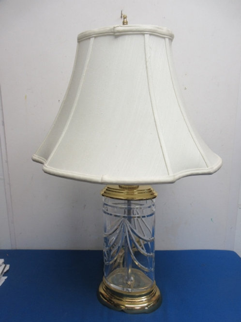 Waterford crystal and gold table lamp with original waterford shade