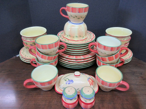 """Pfaltzgraff """"Napoli"""" hand painted 38pc complete service for 6 plus extras"""