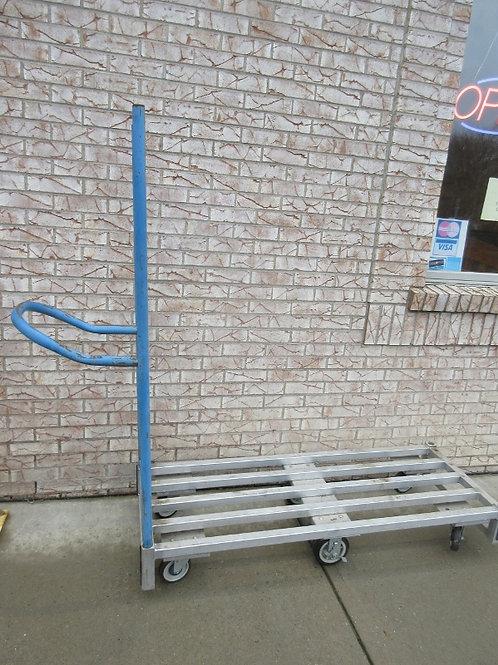 Win Holt heavy duty commercial metal flat bed, 6 wheel utility cart/doll