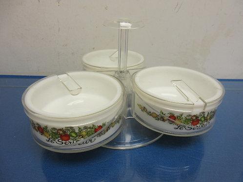 Corningware Spice of Life Serveur-triple caddy condiment server