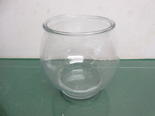 Small glass fish bowl