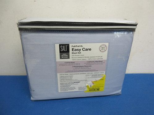 Easy care full size light blue sheet set - new