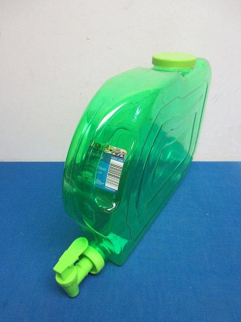 Crofton 1.25 gallon flat green beverage dispenser space saver
