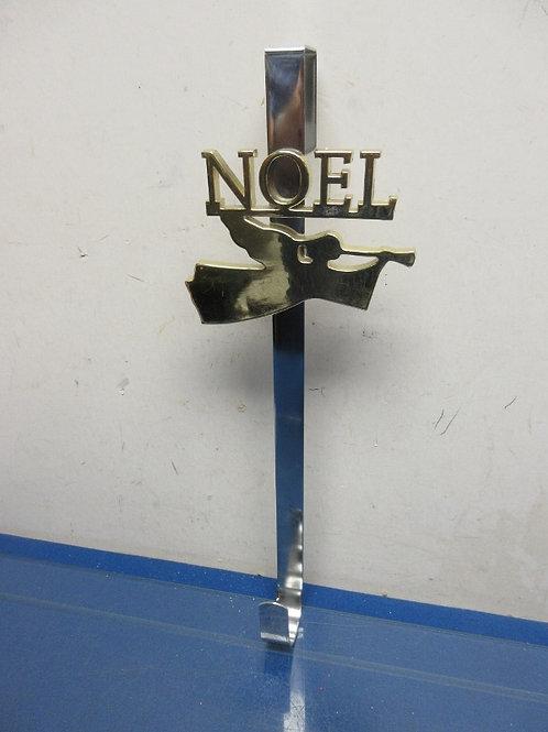 Metal silver and gold noel over the door wreath hanger