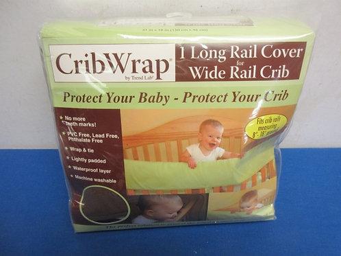 Crib wrap - one long rail cover