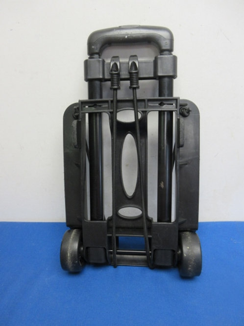 Black pull up handle w/ wheeled dolly w/bungee