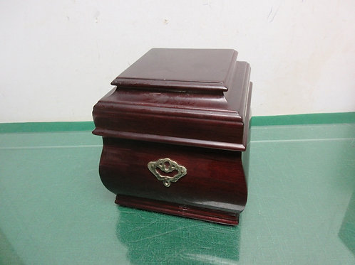 Bombay Co. solid cherry square jewelry box with 2 layers