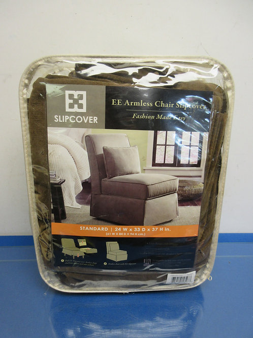 """Slipcover EE armless chair slipcover, standard, 24x33x37"""" brown"""