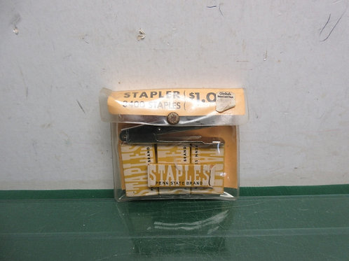 Vintage small stapler with over 3000 staples (Vintage Gimbels price tag)