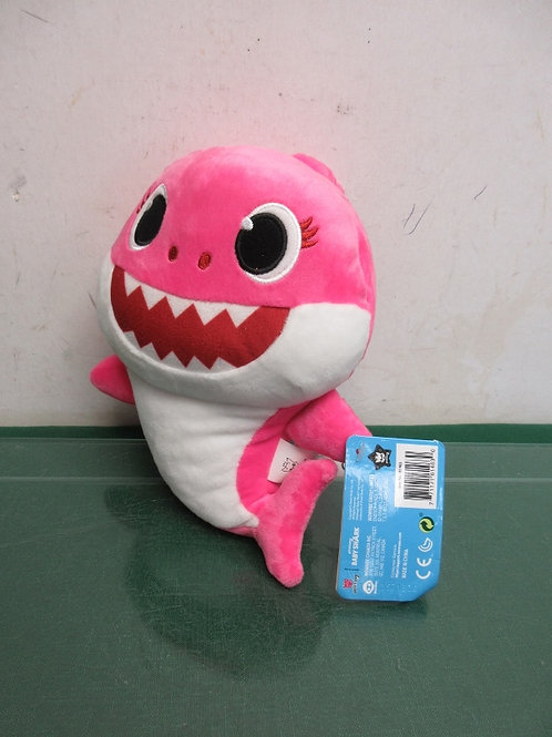 Pink baby shark plush, still has tag on