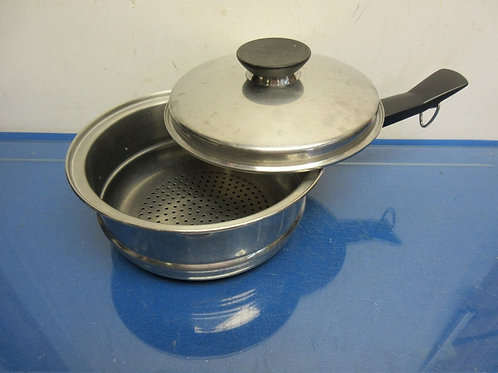 """Heavy stainless steamer basket with lid - fits in any 8"""" pot"""
