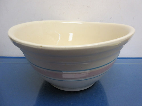 Large vintage USA ovenware #12 mixing bowl - outside hairline crack not all the