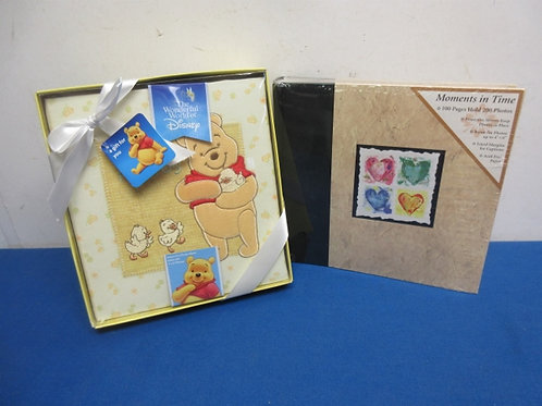 Winnie the Pooh baby's photo album & moments in time album, Both New