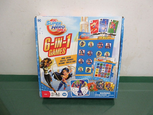DC Super Hero Girls, 6-in-1 games, ages 4+