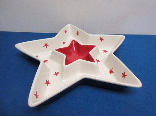 Ceramic star shaped chip and dip bowl