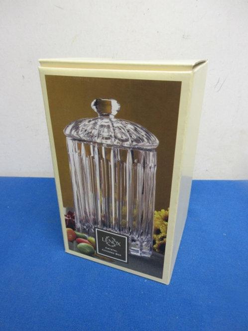 Lenox crystal jar with id, New in box