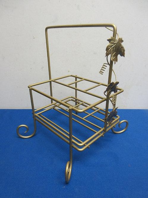 Gold metal utensil caddy