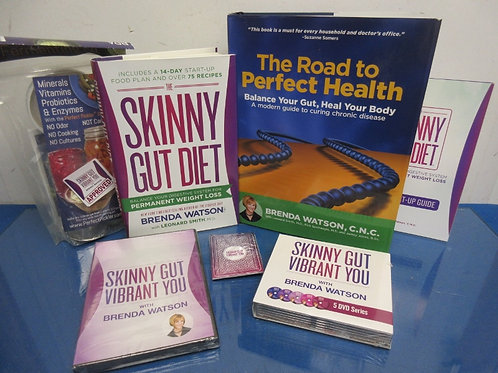 WQED Skinny Gut Combo, 2 hardback books, 6 DVDs, Fermenting Kit and more