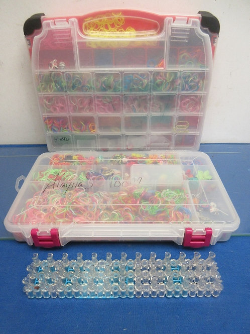 Bracelet maker and 2 large organizers full of bands