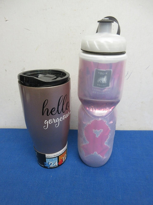 Pair of drink containers, water bottle and 20oz insulated tumbler, All New