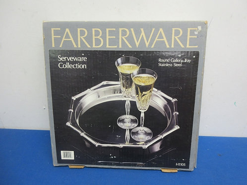 Round stainless steel farberware serving tray New