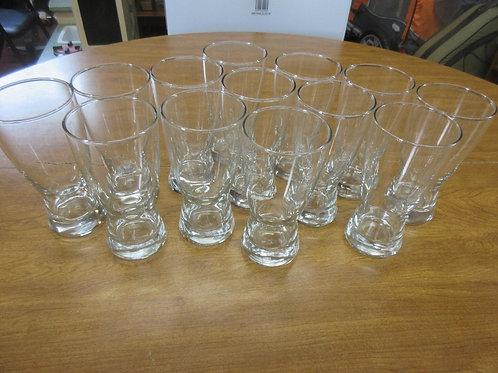 Set of 13 Ten oz. pilsner glasses