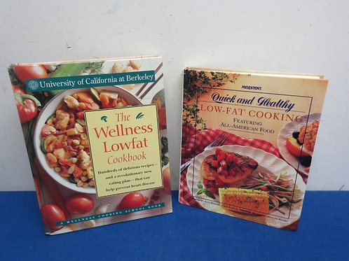 Pair of healty cookbooks, wellness low fat and quick and healthy