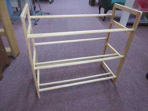 Wood 3 tier shoe rack