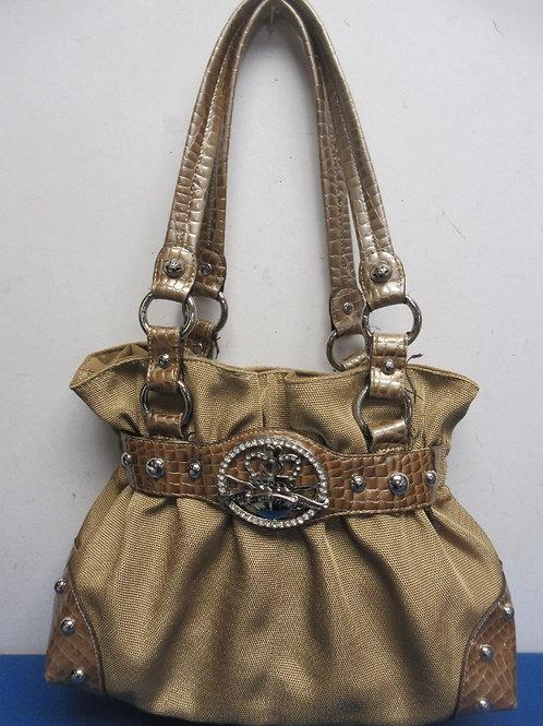 Kathy Van Zeeland gold handbag