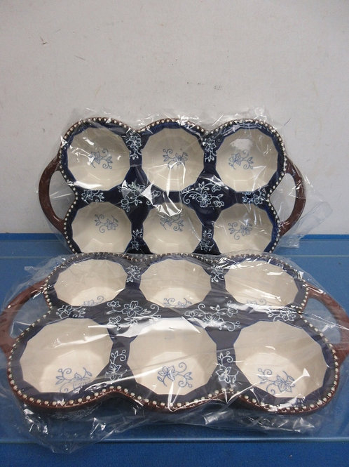 Temptations floral lace set of two 6 cup muffin pans