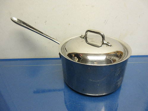 All-Clad stainless steel 3.5qt sauce pan with lid