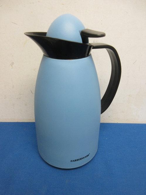 Farberware blue insulated coffee carafe/thermos