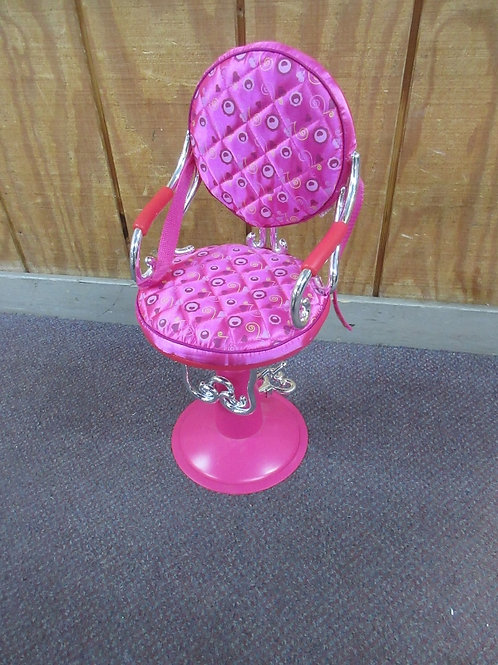 """Our Generation pink salon chair for 18"""" doll"""