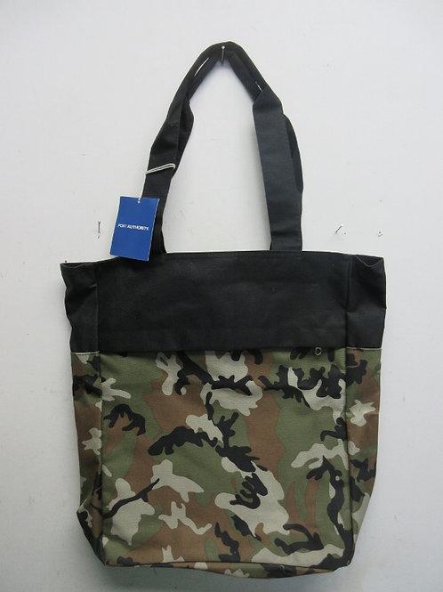 Heavy duty fabric camo design tote bag, New, tags still on