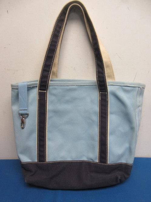 Land's End heavy blue canvas tote bag