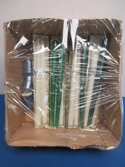 Set of 13 taper candles, and 3 votives, never used