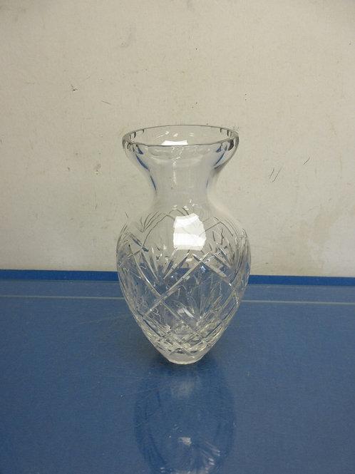 "Leaded crystal jar style vase 9.5"" high"