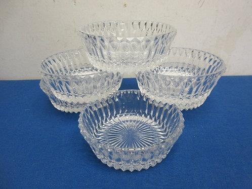 Set of 6 cut glass small bowls