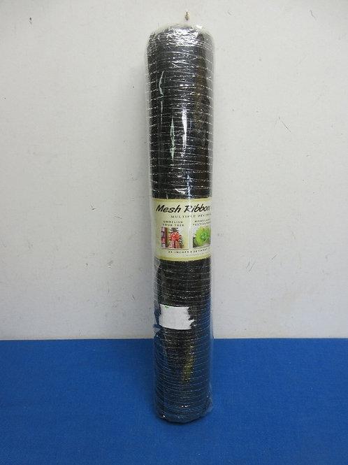 Roll of black mesh ribbon/garland-New