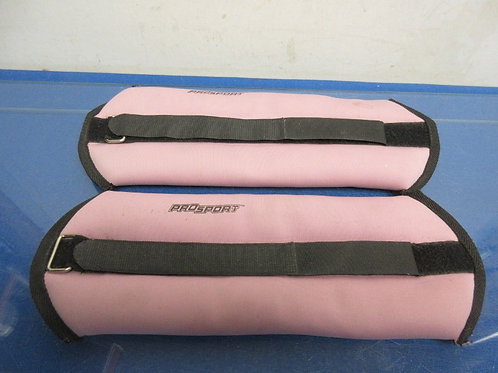 Pair of ProSport pink ankle weights