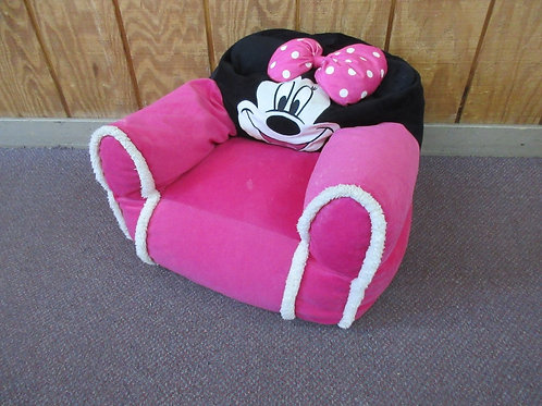 Minnie Mouse pink, white and black plush bean bag seat