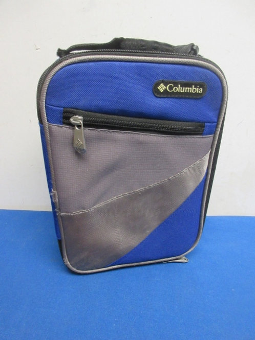Blue & gray insulated lunch box with rigid liner