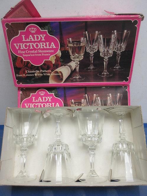 Lady Victoria  crystal stemware, box of 4 water goblets